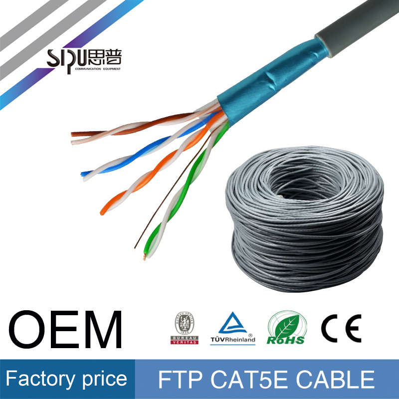 Sipu Ce Copper SFTP LAN Cable Wholesale Cat5e Network Cable