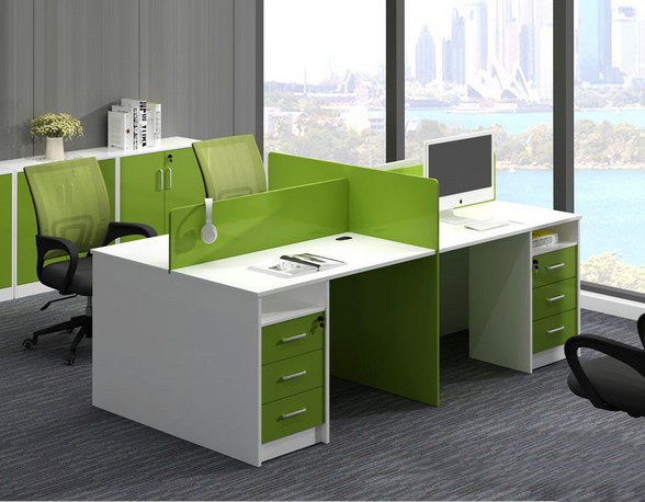 Aluminum Glass Partition Wall Cluster Staff Workstation Office Furniture (HX-6M201)
