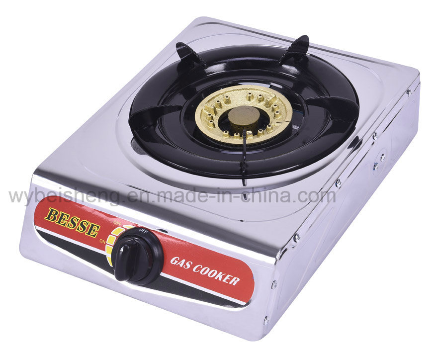 Single Burner Gas Cooker with Stainless Steel Panel