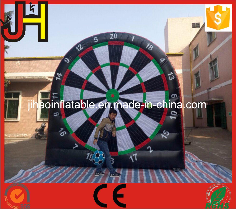Inflatable Foot Dart, Inflatable Soccer Dart, Velcro Soccer Dart