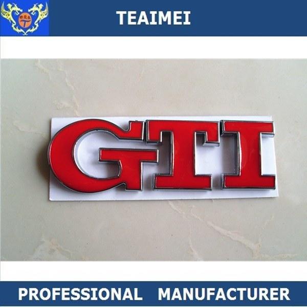 China GTI Car ABS Chrome D Custom Letters Sticker Badge Emblem - Car sign with namescustom car logodie casting abs car logos with names brand emblem