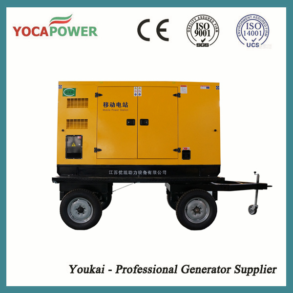 100kw Trailer Soundproof Diesel Electric Generator