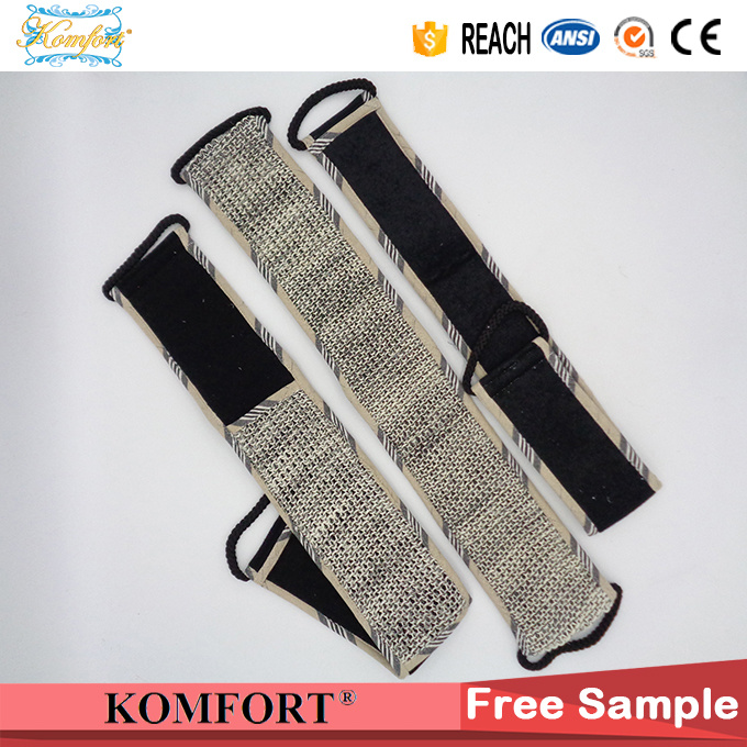 JM406E Bamboo Charcoal Sisal Bath Sponge Belt Strap Body Brush