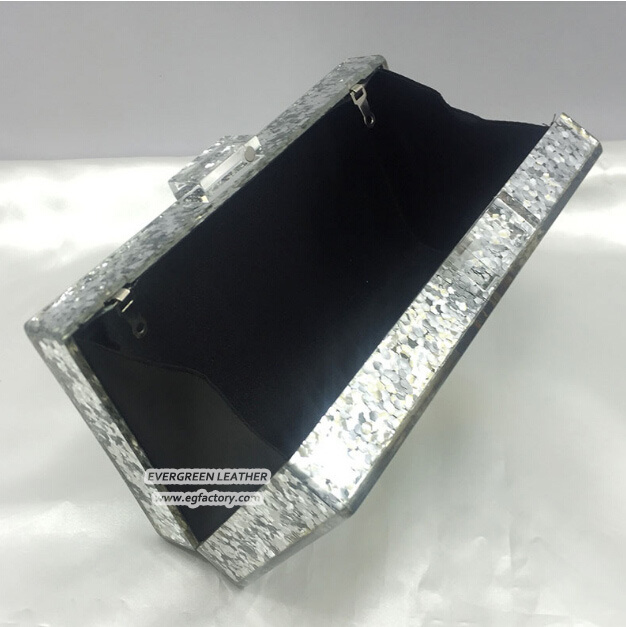 2017 Popular Deisgn Acrylic Clutch Handbag Shining Evening Bags Women Party Purse Eb864