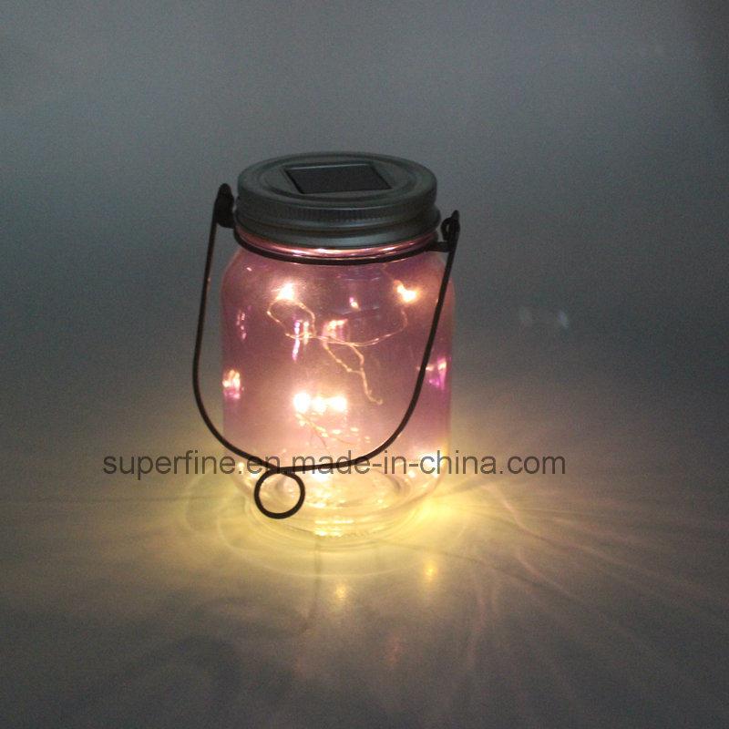Star Flickering Rice Lights in Solar Jar for Garden Docoration