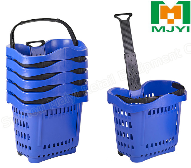 Apple Style Supermarket Plastic Shopping Basket