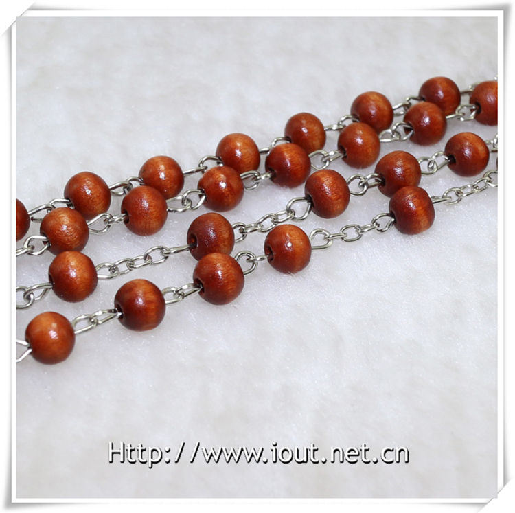 Wooden Beads Rosary, Religious Beads Rosary, Rosaries, Promotion Gift (IO-cr348)