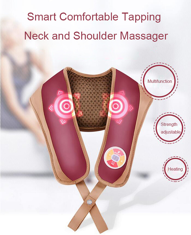 Hot Sale Shiatsu Heated Neck and Shoulder Massager