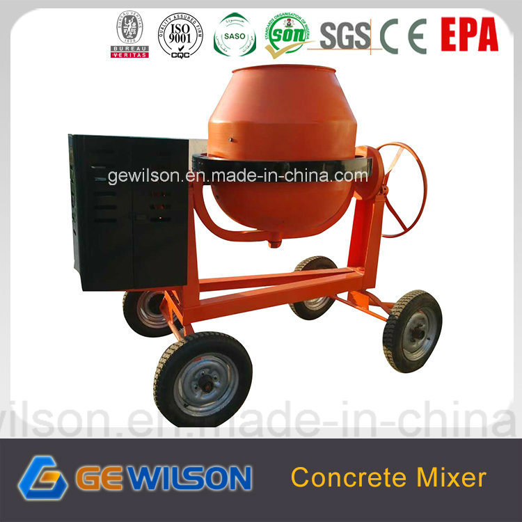 350L Portable Concrete Mixer with Diesel Engine