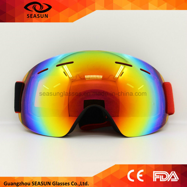 2017 New Design Ski Goggles Double UV400 Anti-Fog Big Ski Mask Glasses Skiing Men Women Snow Snowboard Goggles