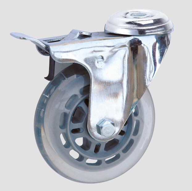 3inch Industrial Caster Transparent Caster with Brake