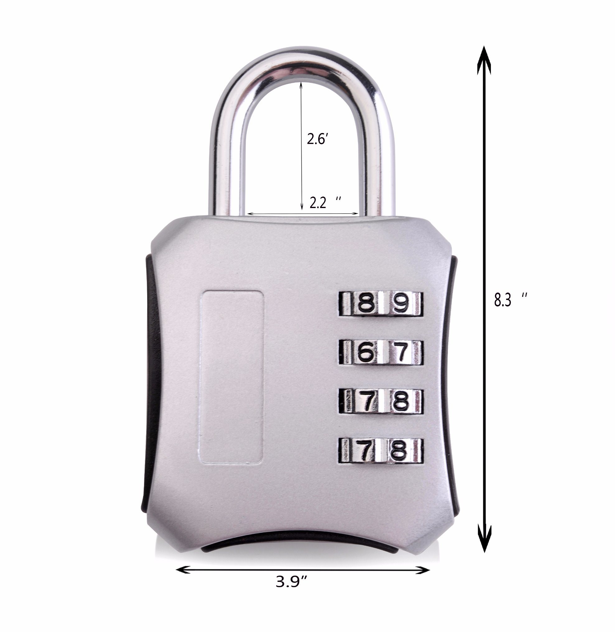 Sepox Resettable Combination Travel Lock, 4 Digit Combination Lock for Suitcase