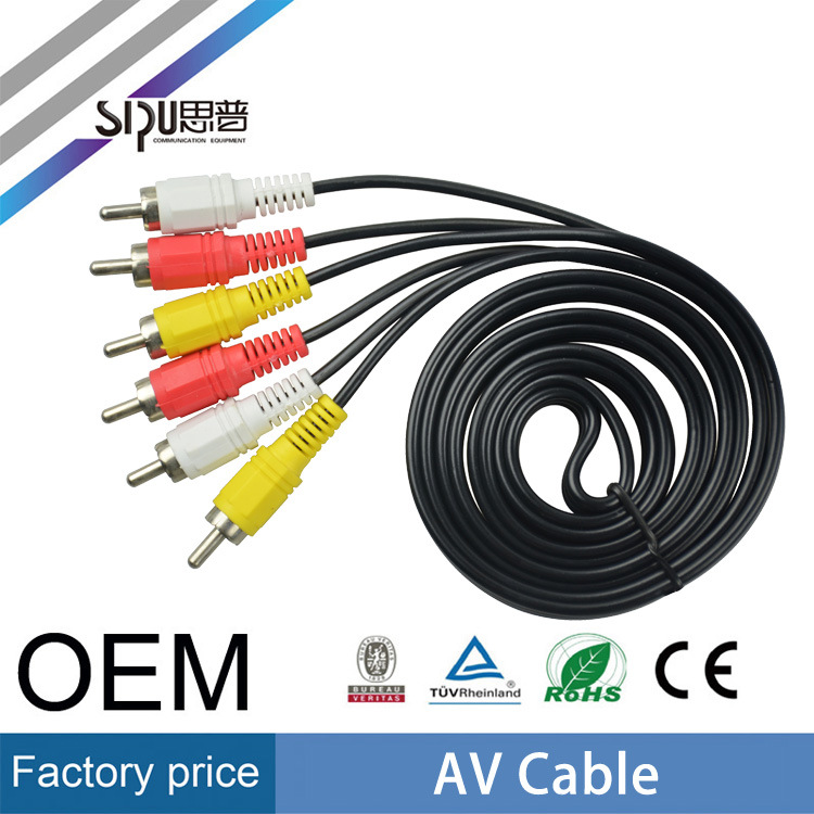 Sipu 3RCA to 3RCA AV Cable Wholesale Audio Video Cable