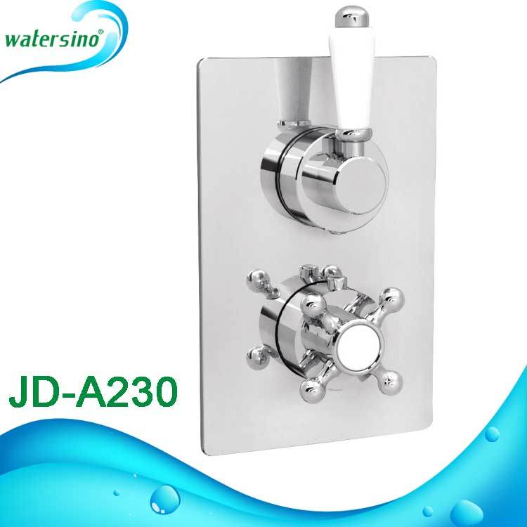 Bathroom Sanitary Ware in Wall Brass Thermostatic Temperature Shower Mixer