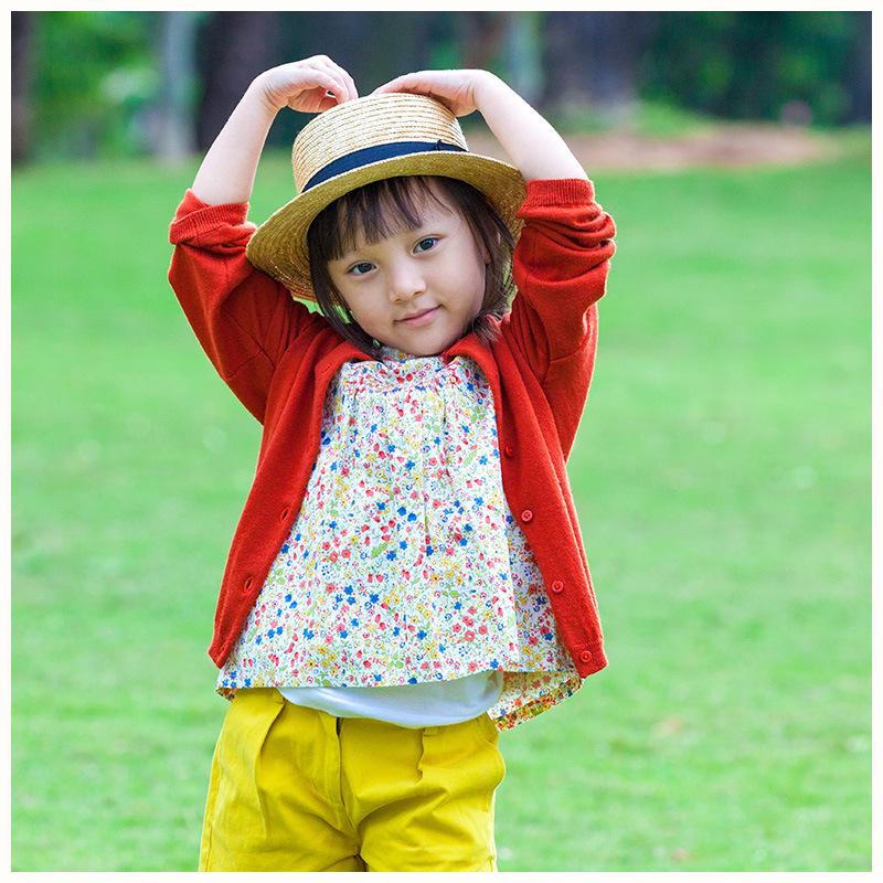 100% Wool Spring/Autumn Red Girls Wear
