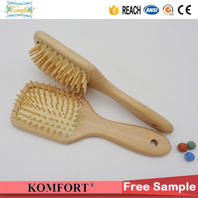 Detangling Comb Wholesale Custom Wood Paddle Hair Brush China Manufactures (JMHF-126)