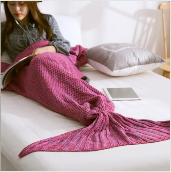 Portable Home Use Comfortable Mermaid Baby Blanket