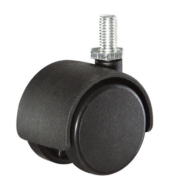 40mm Black Color Office Chair Locking Nylon Ball Casters Caster with Brake, Cabinet Screw Caster
