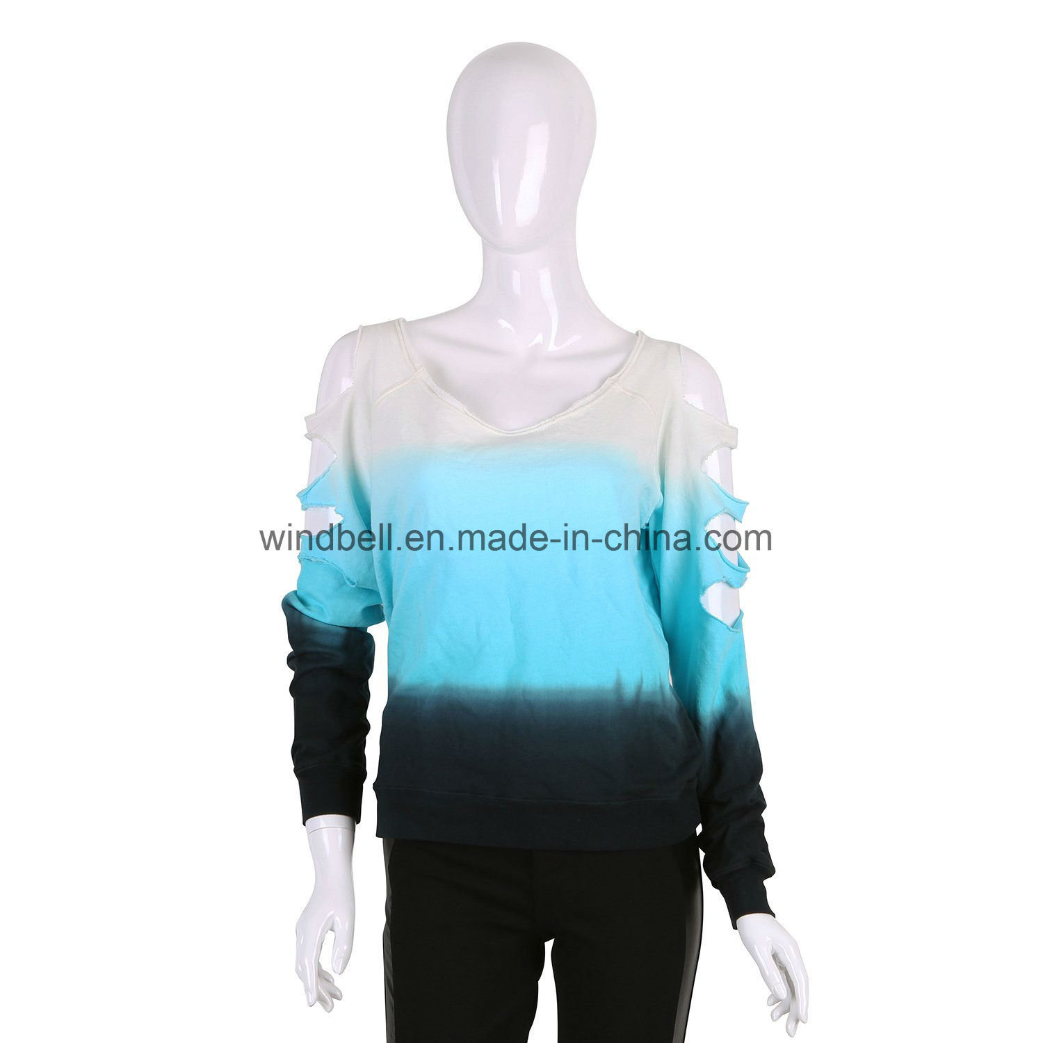 Fashionable Pullover for Women with Tie Dye