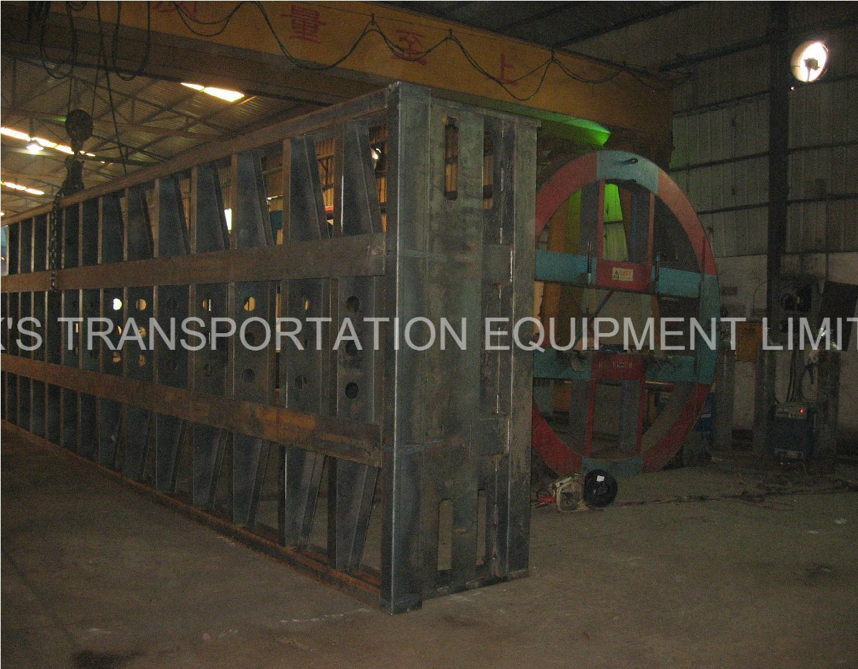40 Feet Tandem Container Flatbed Semi Trailer for Egypt