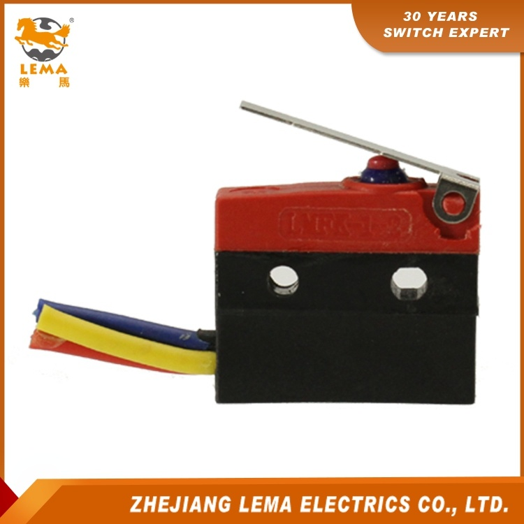 Lema Kw12f-1ex Waterproof IP67 Short Lever Micro Switch