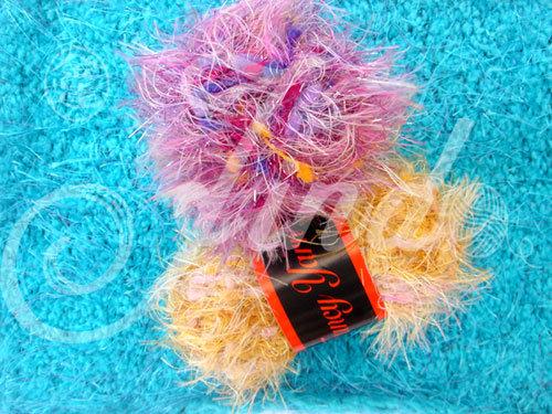 Fancy Yarn (JD-8021) with Lurex, Handknit Yarn, Crochet, Needle Knitting