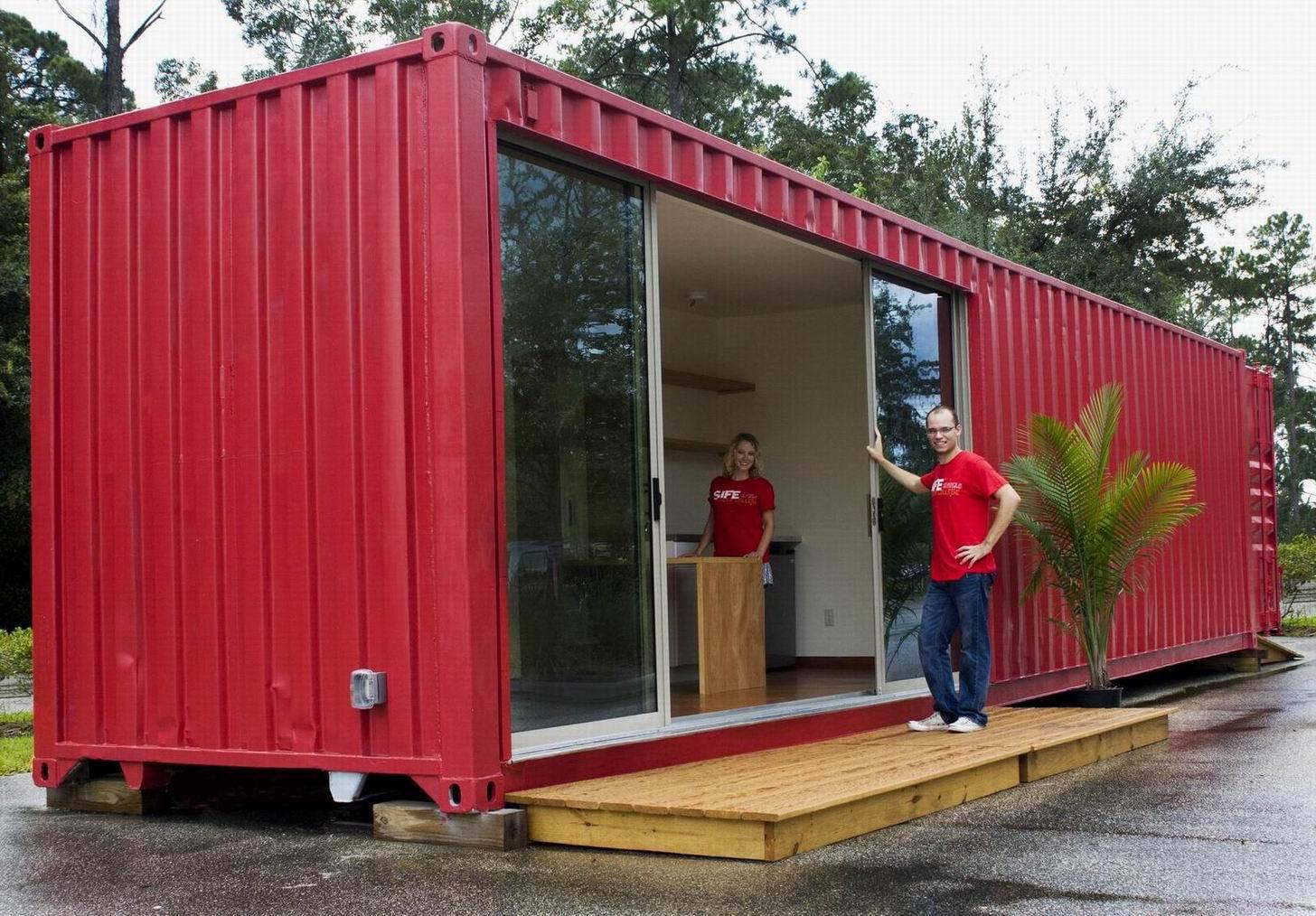 Converted Shipping Container Home 1456 x 1014
