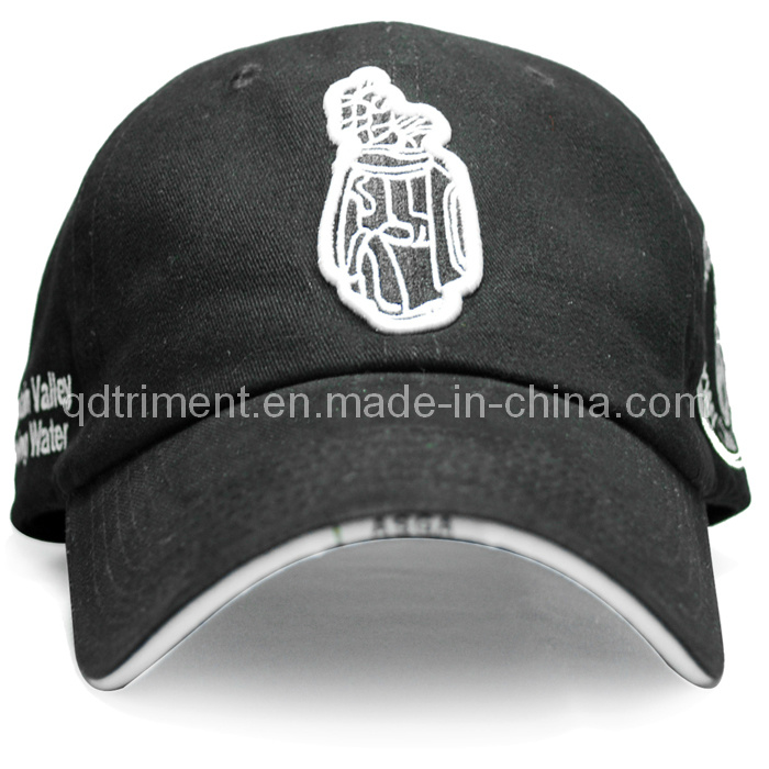 Brushed Cotton Twill Sandwich Embroidery Sport Baseball Cap (TRB040)