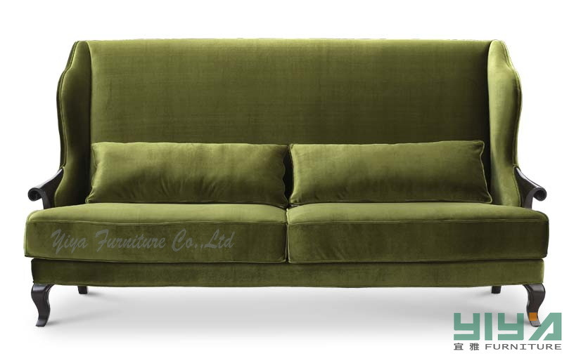 China Olive Color Special Green Fabric Sofa D21