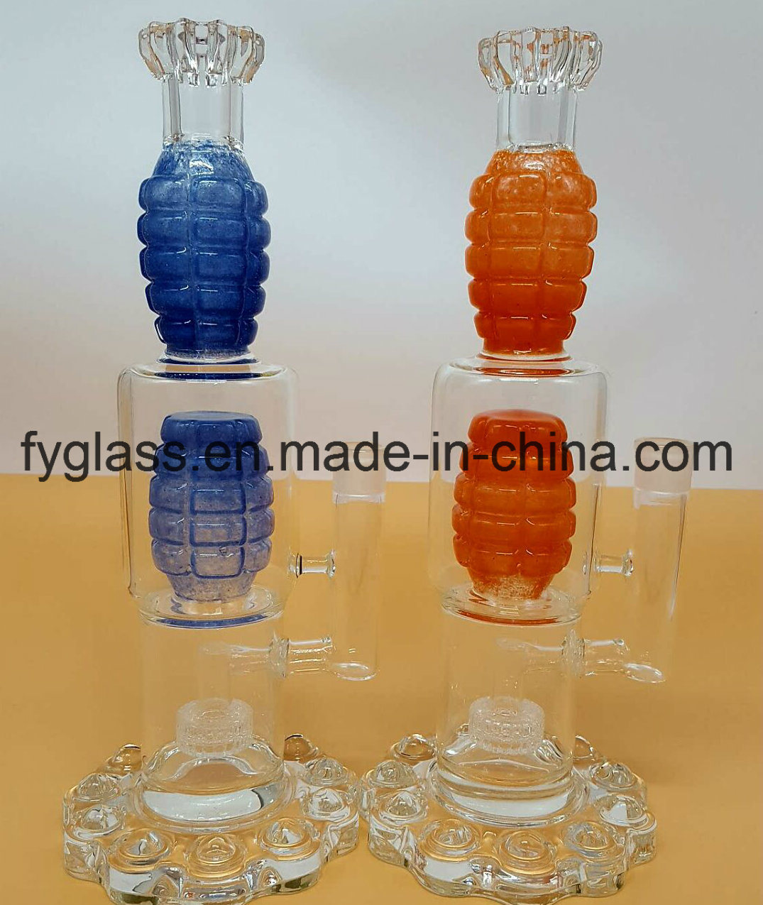 Heavy Grenade Glass Water Pipe Smoking Pipe for Smoking Set