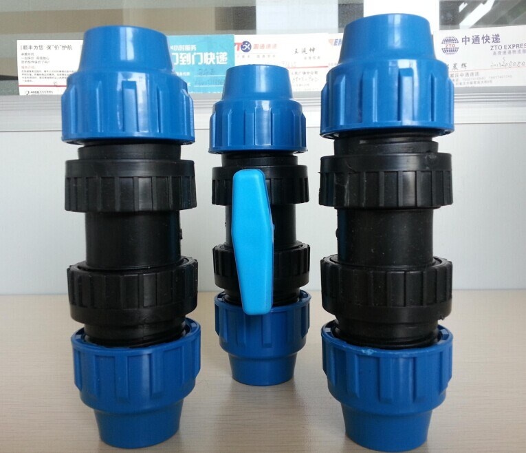Pn16 High Pressure PP Irrigation Fittings / Ball Valve
