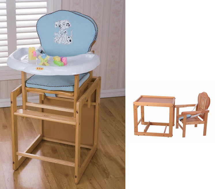 China Convertible Wooden Baby High Chair CY100 China