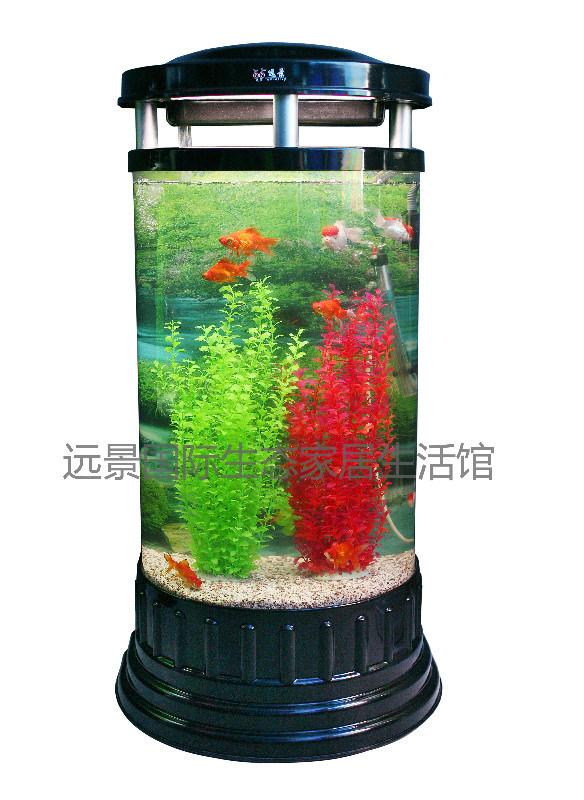 China cylinder acrylic decoration aquarium fish tank for Cylindrical fish tank