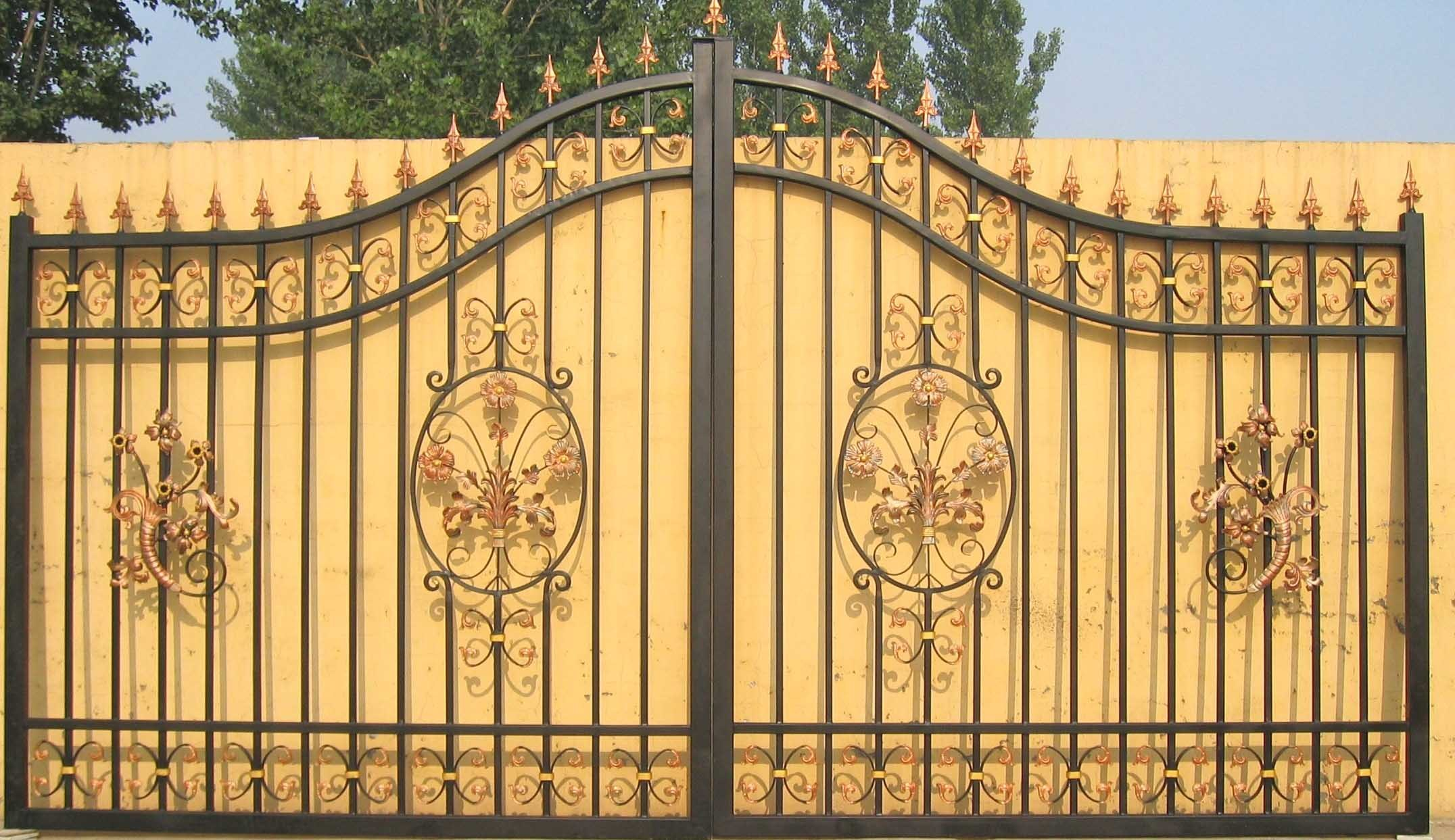 Fence gate iron wrought fencing Metal gate designs images