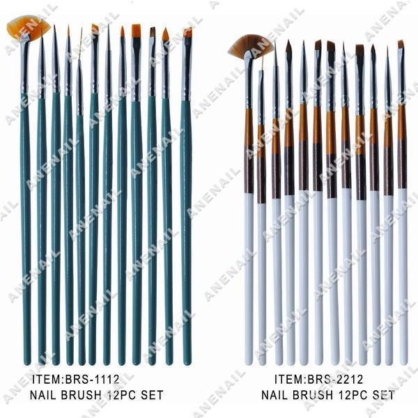 Gel Brush, Brush Set (BRS-1112) - China Nail Brushes, Nail Art Brushes