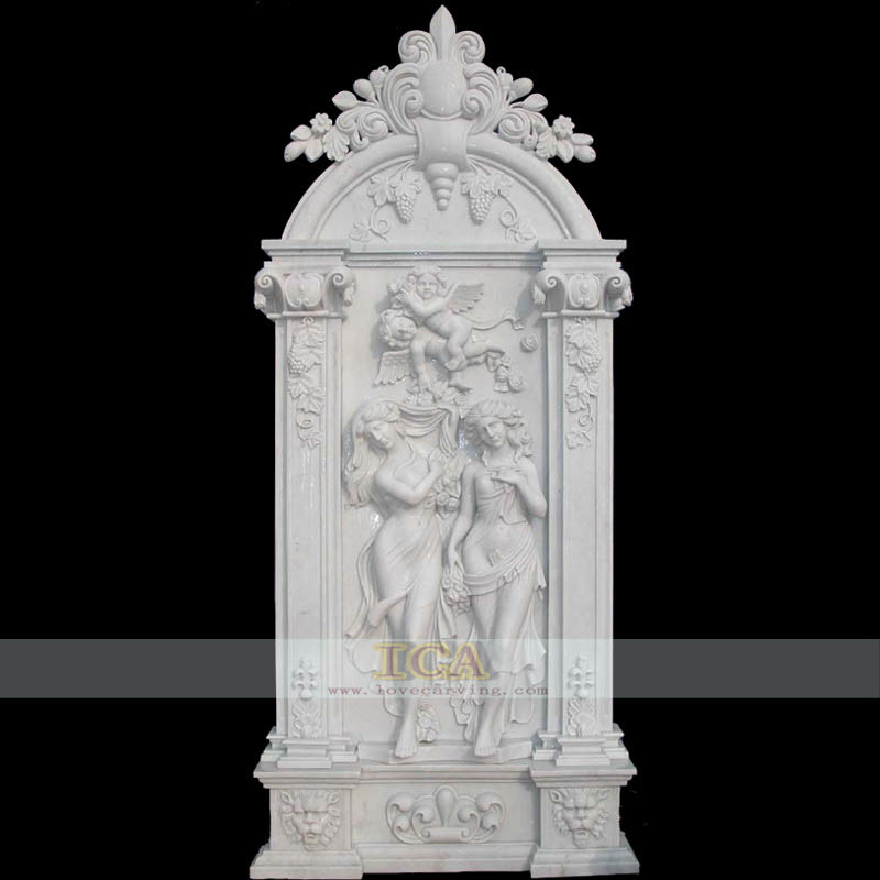 China marble carving relief fdr