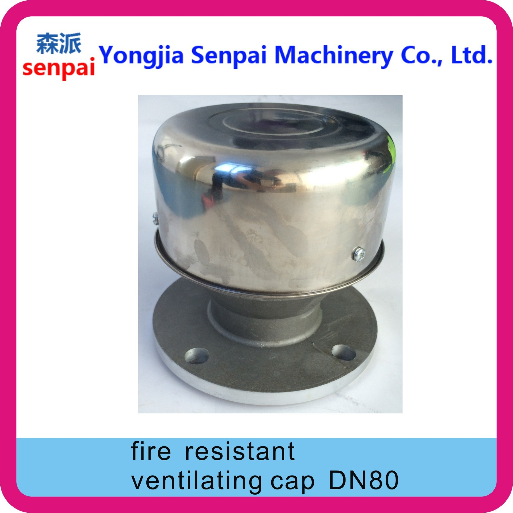Gas Station Parts Dn80 Fire Resistant Ventilationg Cap/ Fire Resistant Cap