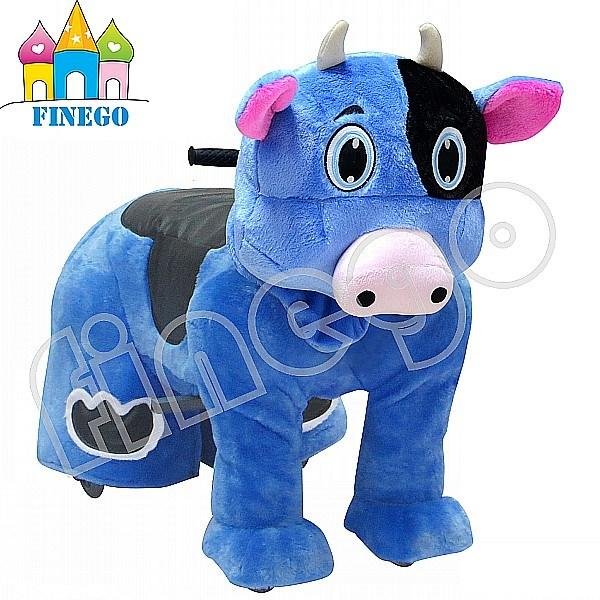 Finego Plush Walking Rocking Horse, Rocking Animal Kids Rides