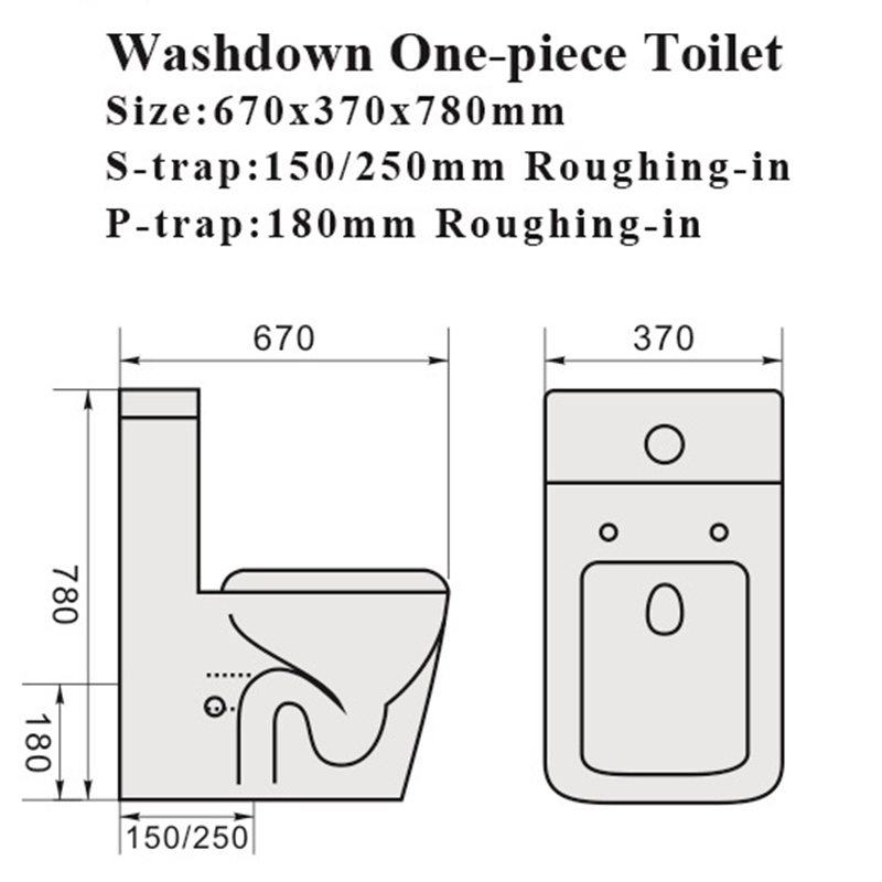 Watermark Bathroom Water Closet Sanitary Wares Ceramic Toilet
