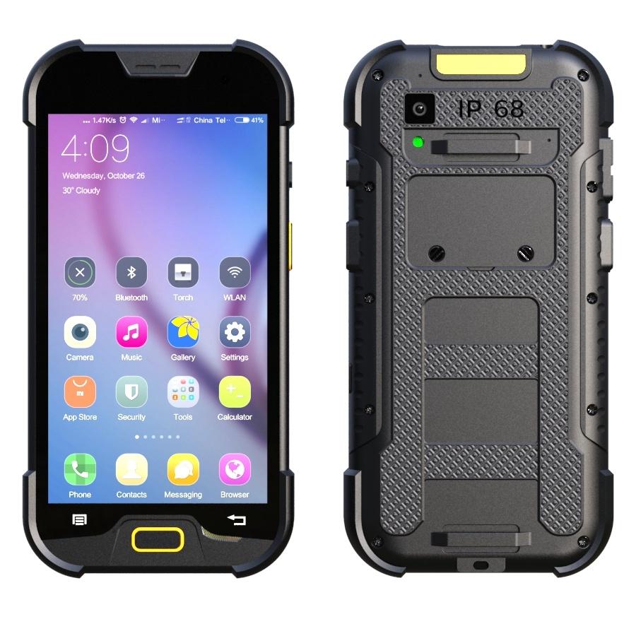 5 Inch 4G Lte Rugged IP68 Waterproof Smartphone with 2+16GB Memory & 5+13 MP Camera & Ultra Light LED Flashlight