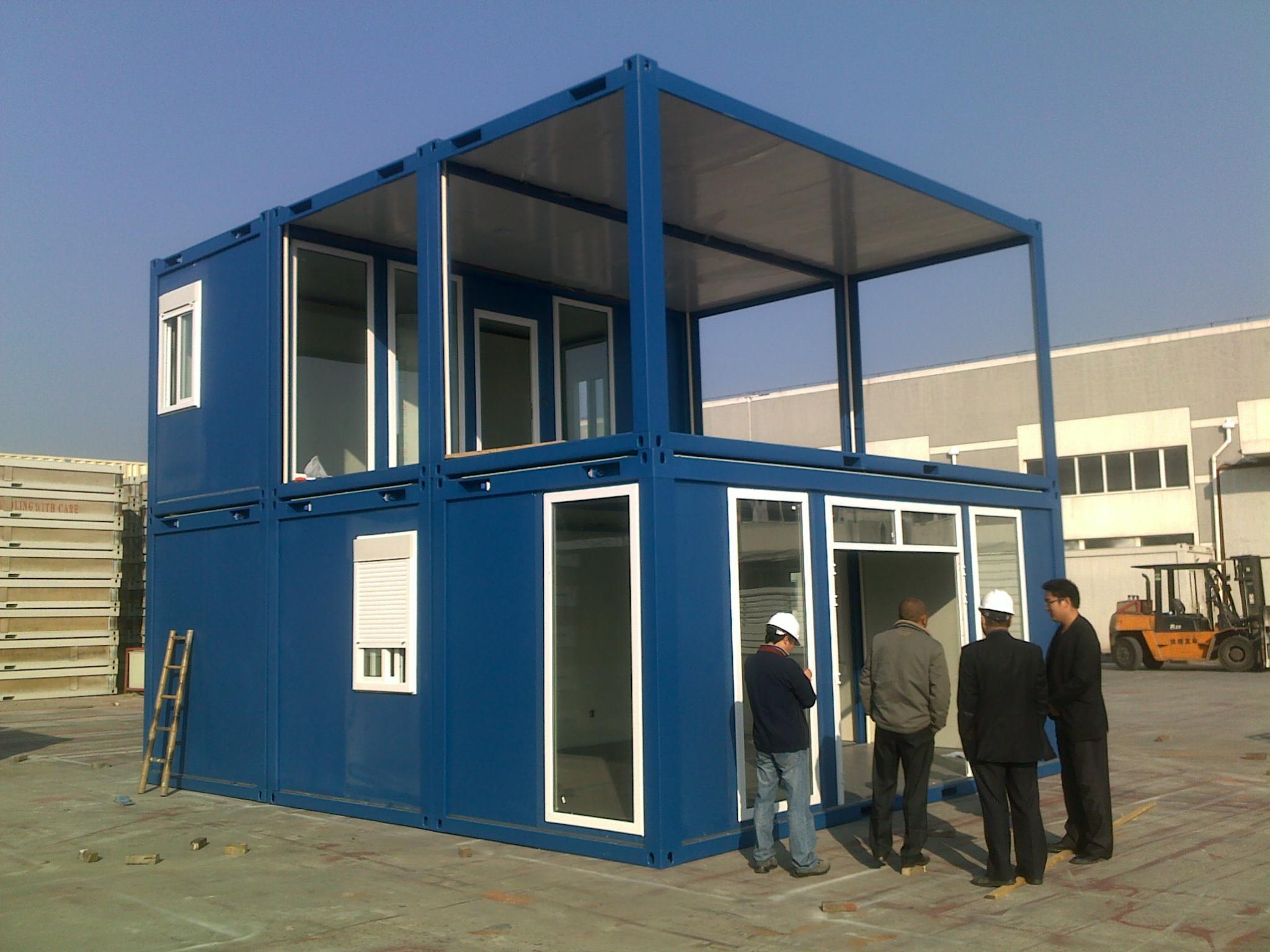China container villa modular villa prefab villa sh101 for Villa container