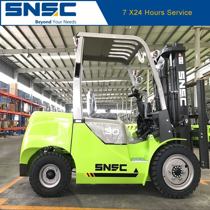 Snsc 3 Ton Diesel Forklift Price with Japanese Isuzu Engine