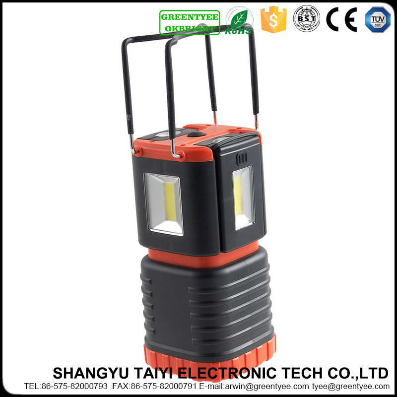 Outdoor LED Rechargeable Emergency Lantern Light Portable Camping Lighting