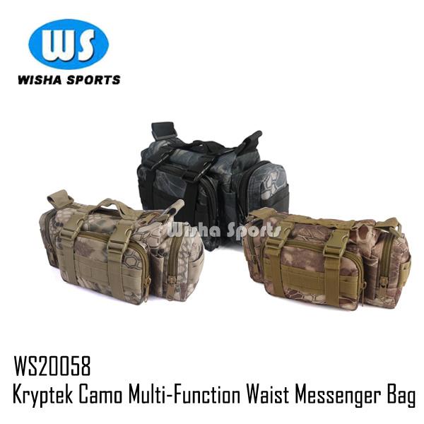 Kryptek Camo Military Molle Utility Multifunction Waist Messenger Bag