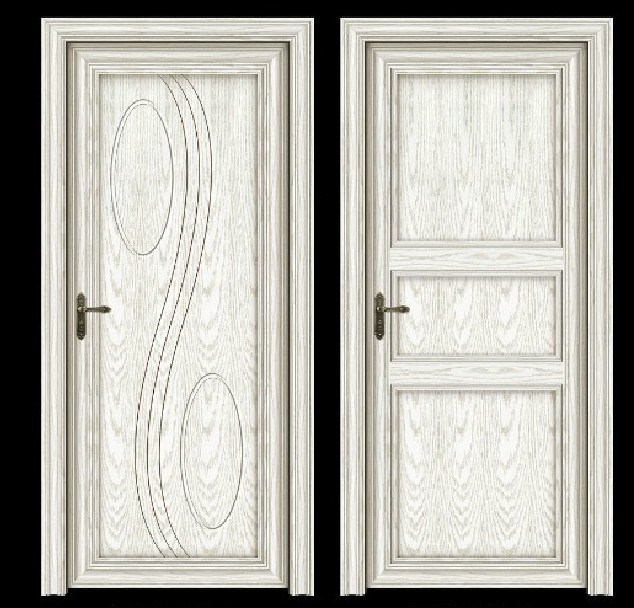 China Elegant Design Aluminum Wood Door Solid Core Door Aluminum Door Filled With Wood Cl