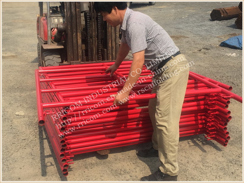 Fast Lock Type Powder Coated Scaffolding Frames