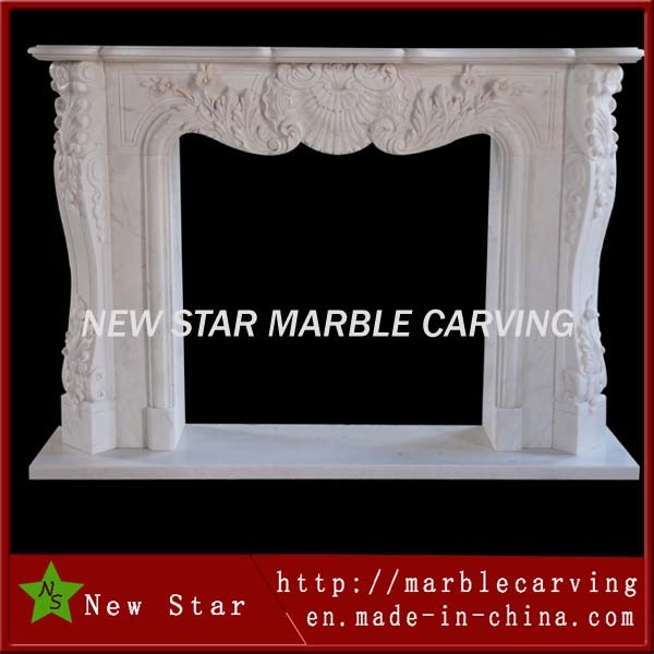 White Marble Fireplace Mantel Fireplace Surround