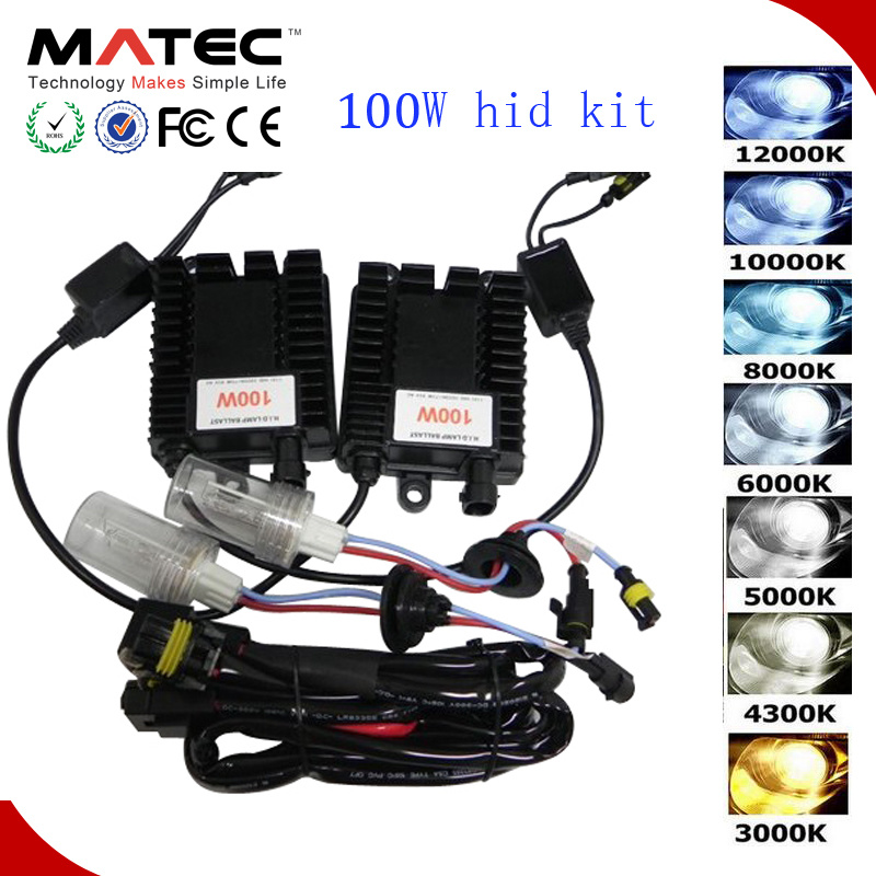 Digital Slim HID Ballast 75W/100W with Bulbs 4300k/5000k/6000k/10000k