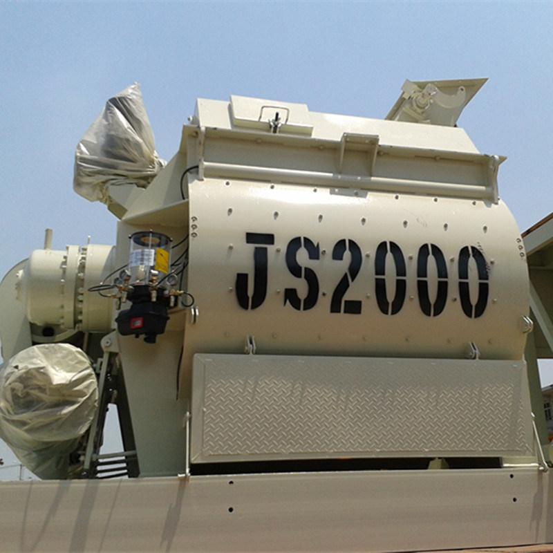 Twin Shaft Concrete Mixer (JS2000) for Sale