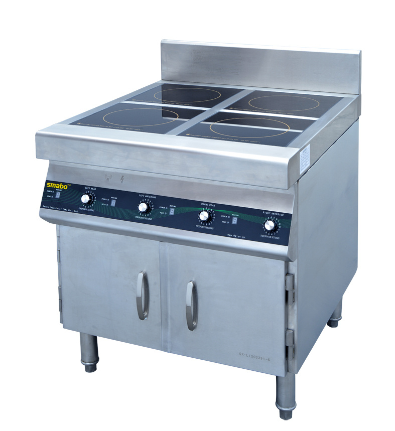 Electric Energy Saving Restaurant Four Burners Cooker